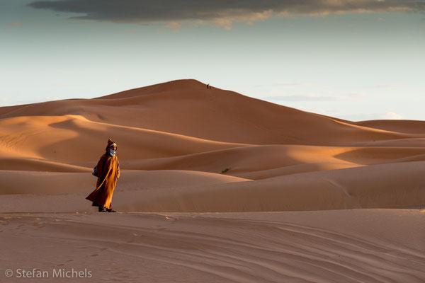 Sahara - Kurz nach Sonnenaufgang.