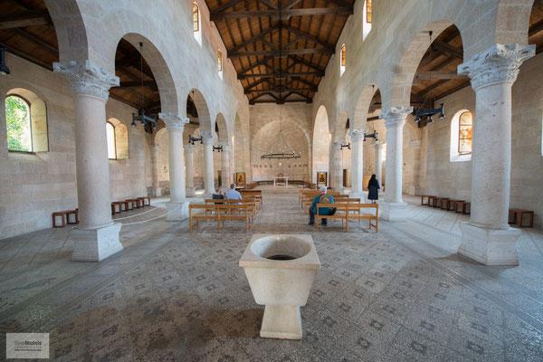 Die gesamte Anlage der Brotvermehrungskirche war ursprünglich mit Mosaiken ausgelegt.