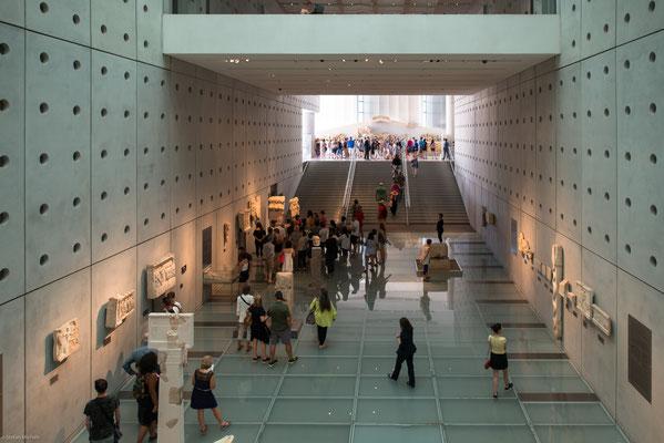 Der Bau des Museums ist eng mit der Forderung nach Rückgabe des Parthenon-Frieses verbunden.