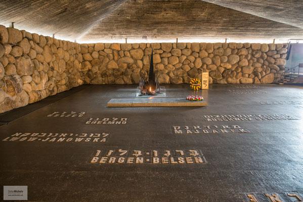"""Yad  Vashem - Die """"Halle der Erinnerung""""."""