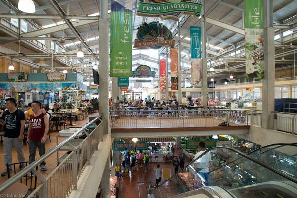 Eine der Markthallen.