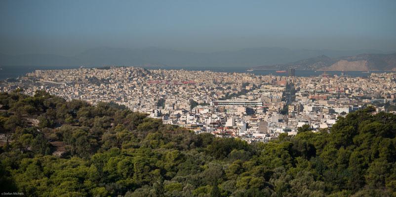 Blick auf den Hafen von Athen, Piräus.