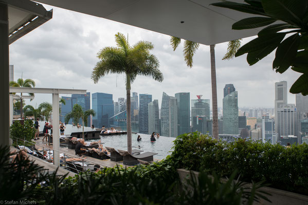 Im 55. Stock des Marina Bay Hotels.