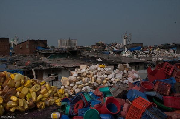 Plastiklager in Dharavi