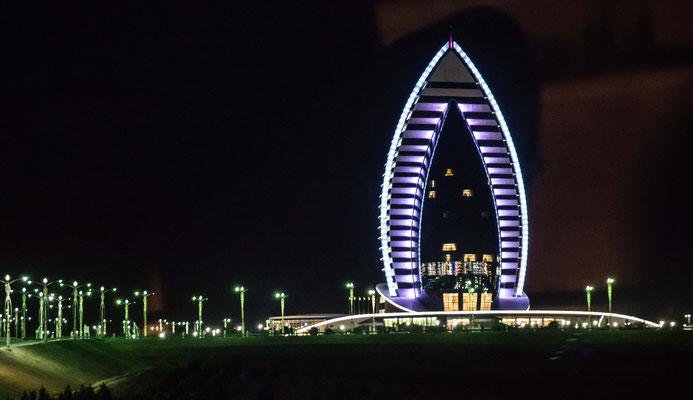Unser Hotel in Ashgabat, der Hauptstadt von Turkmenistan erreichen wir Abends.