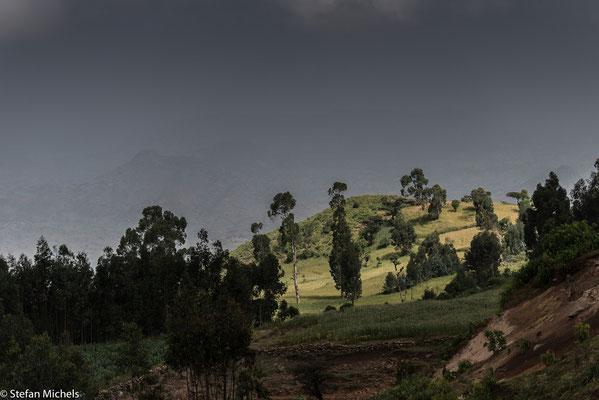 Auf dem Weg ins Simsen-Gebirge im Norden Äthiopiens.