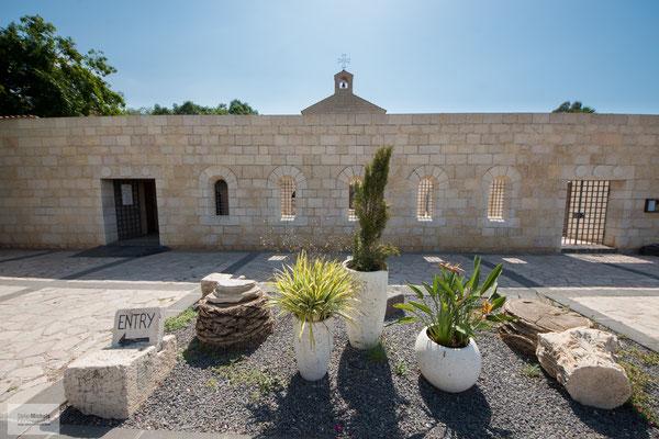 Kirche der Brotvermehrung am See Genezareth.