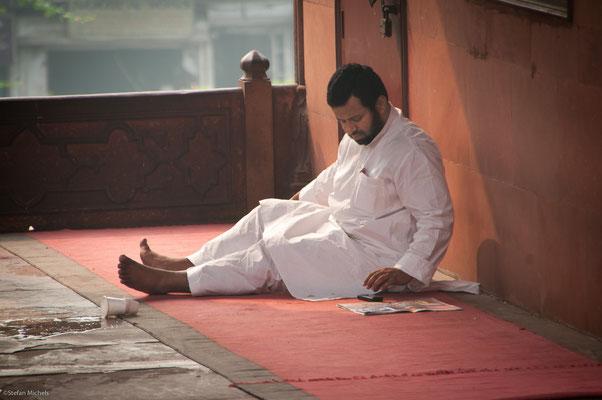 """In der Jama Masjid """"die aluf die Welt blickt"""""""