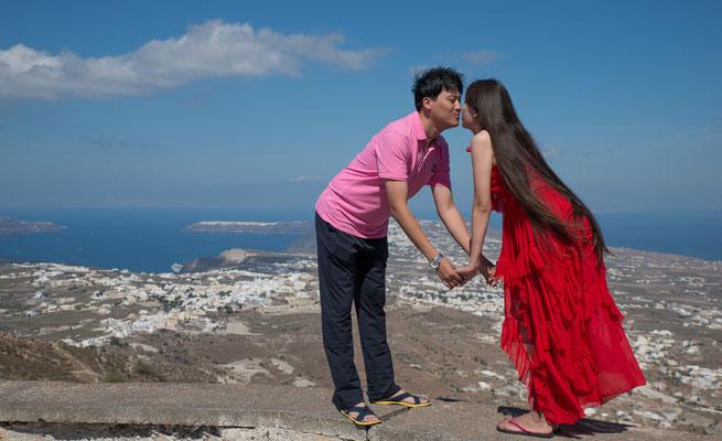 Ein besonders stark wachsendes Segment des Tourismus auf Santorin sind Besucher aus China.