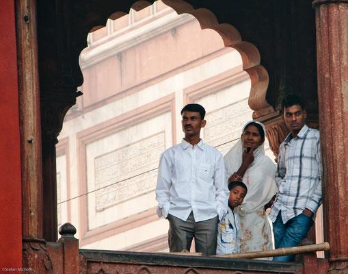 In der Jama Masjid, Freitagsmoschee, Delhi
