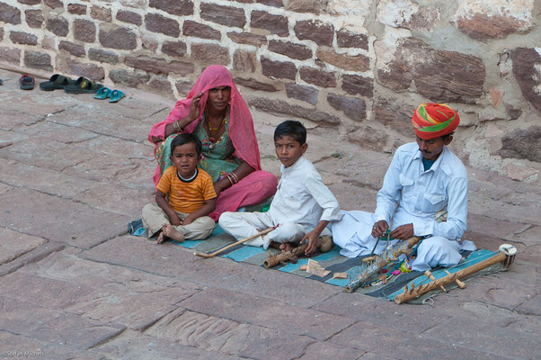 Im Fort, 123 Meter über Jodhpur