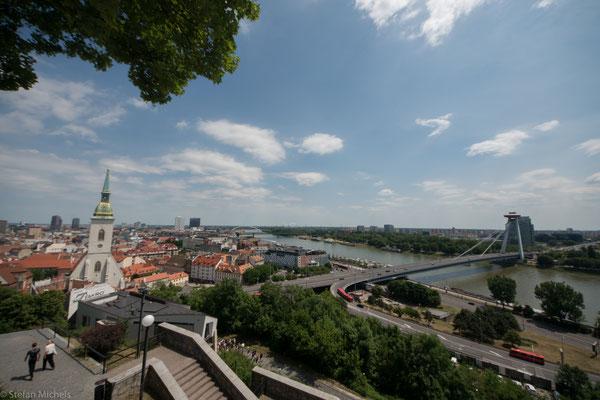 Mit ca. 55 km haben Bratislava und Wien den geringsten Abstand zweier europäischer Hauptstädte.