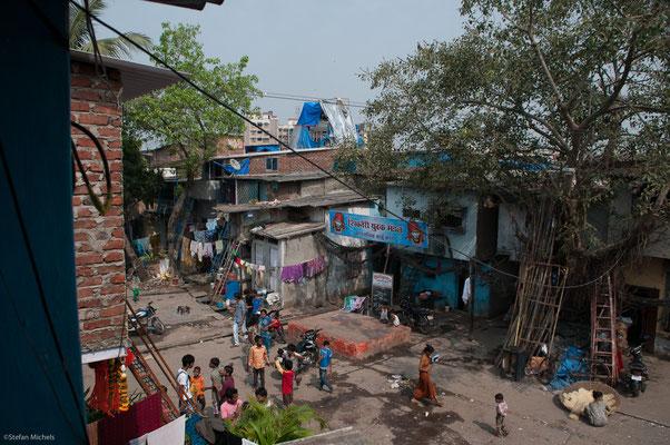 Hauptstraße in Dharavi