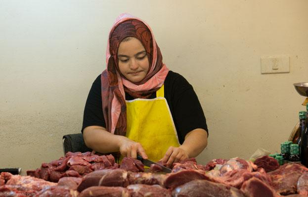 Das Fleisch wird direkt verarbeitet.