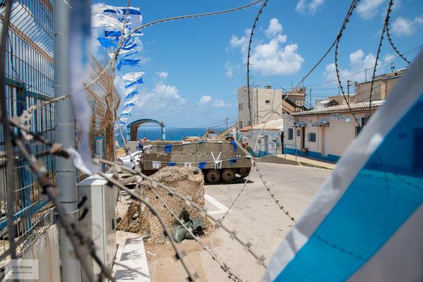 Demarkationslinie zwischen Libanon und Israel, die von der UN gezogen wurde, um zu bestimmen, ob Israel die UN-Resolution 425 erfüllt hatte.