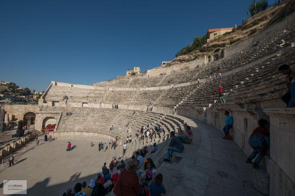 Das griechische Amphitheater.