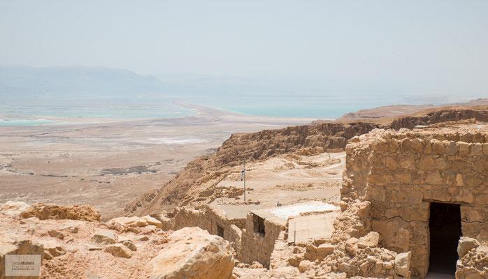 Masada ist ein isolierter Tafelberg, Teil des Judäischen Gebirges entlang des Westrandes des Jordangrabens, zwischen Totem Meer und Judäischer Wüste gelegen.