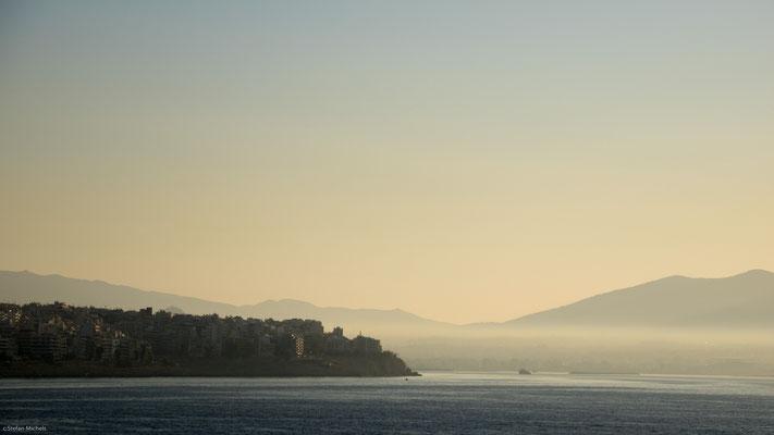 Abfahrt mit der Fähre nach Mykonos.