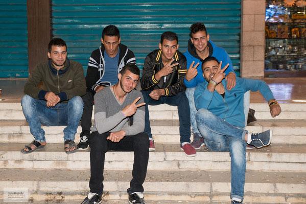 jugendliche Palästinenser.