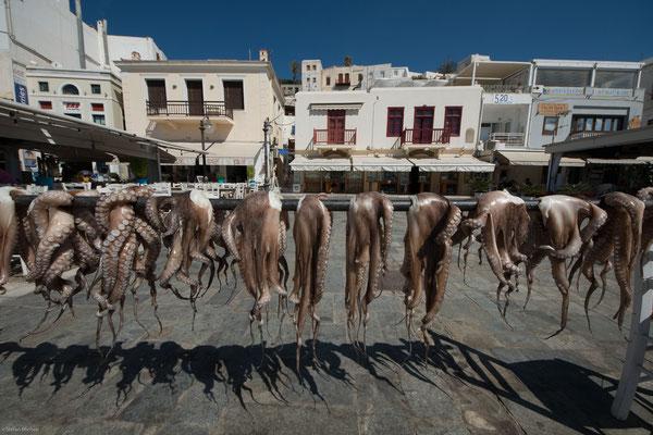 Industriell abgebaut wird Naxos-Marmor; der Abbau von Schmirgel, bis zur Mitte des 20. Jahrhunderts der bedeutendste Wirtschaftszweig der Insel, wurde eingestellt.