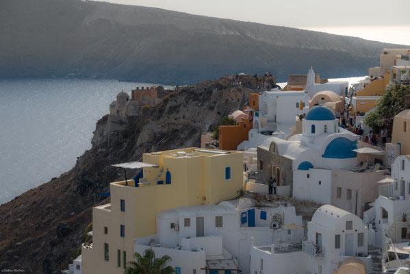 Die Bauten auf der Insel entsprechen weitgehend der kykladischen Architektur auf den Nachbarinseln.
