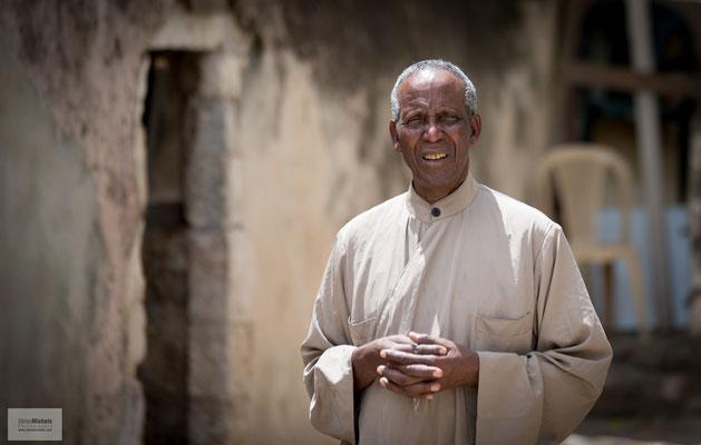 Auf dem Dach der Grabeskirche leben äthiopische Mönche.
