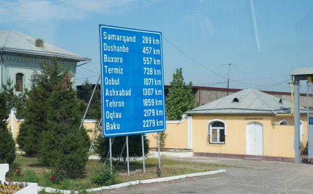 Weiter ging es Richtung Samarkand.