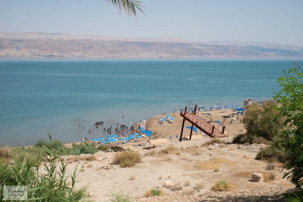 Das Tote Meer ist ein abflussloser See, der 428 m unter dem Meeresspiegel liegt.