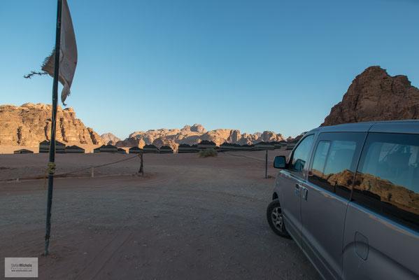 Unsere Zelt-Lodge im Wadi Rum.