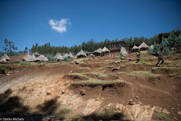Beispiel für die teilweise katastrophalen Erosionsschäden, mit denen Äthiopien zu kämpfen hat.