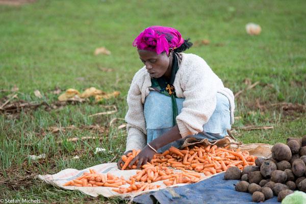 Arba-Minch - zwei Mal die Woche ist Markttag
