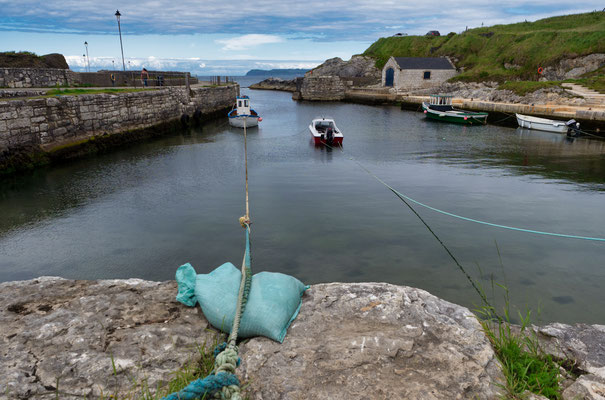 Kleines Fischerörtchen vor Belfast.