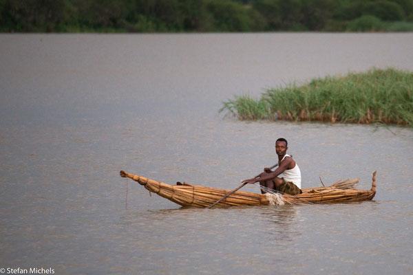 Tanasee - ein aus Papyrus efertigtes Tankwa, ein kleines Boot, mit welchem Fischfang betrieben wird.