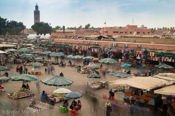 Marrakesh -Bei einem Terroranschlag am 28. April 2011 auf ein Café am belebten Marktplatz Djemaa el Fna starben mindestens 17 Menschen, darunter viele Touristen.
