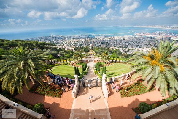 Die Baha'i Gärten in Haifa sind UNESCO Weltkulturerbe.