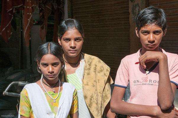 Geschwister in Jodhpur