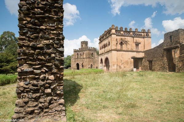 Gondar - Camelot Afrikas, Herzstück der Palast Kaiser Fasilidas aus dem Jahre 1632.