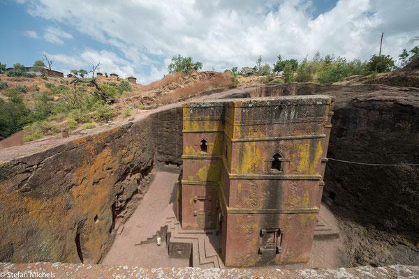 Lalibela -Diese Gebäude zählen zu den größten von Menschen geschaffenen monolithischen Strukturen der Welt.