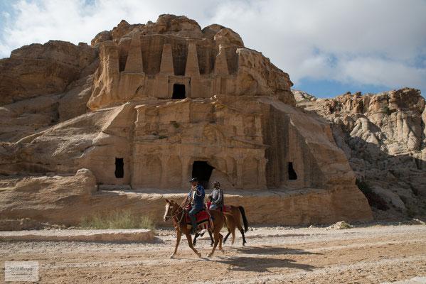Die verlassene Felsenstadt Petra war in der Antike die Hauptstadt des Reiches der Nabatäer.