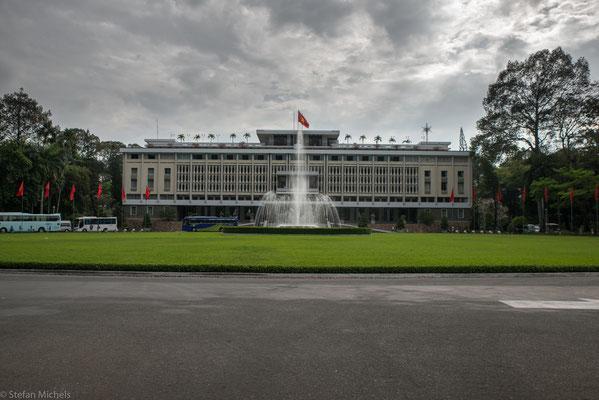 Der Wiedervereinigungsspalast in Ho Shi Minh-Stadt.