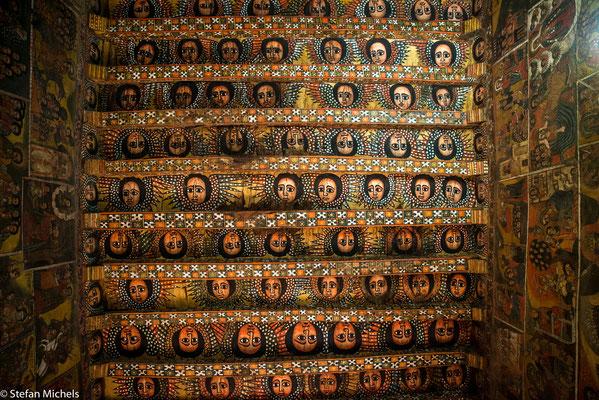 Gondar- Die Klosterkirche Derbe-Birhan-Selassie.