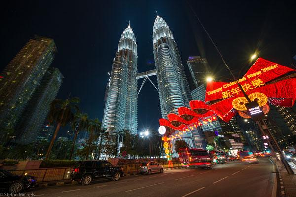 Die Petronas Towers in Kuala Lumpur, die Hauptstadt Malaysias.
