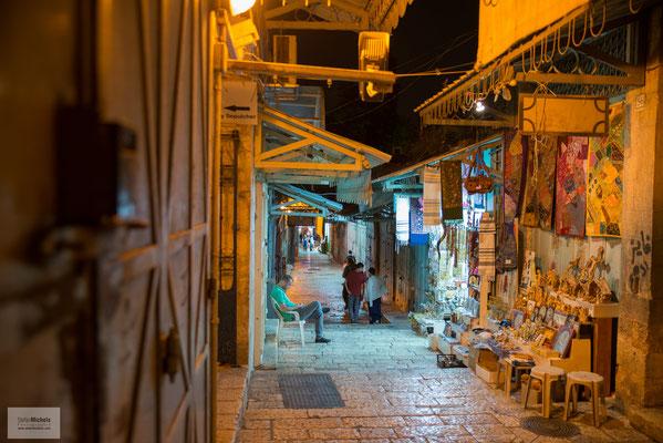 Abends im arabischen Viertel von Jerusalem.