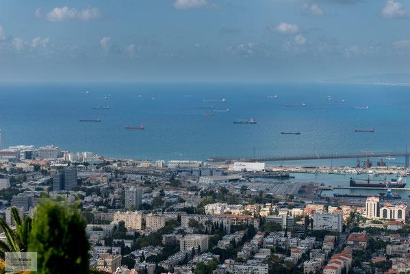 Blick auf Haifa.