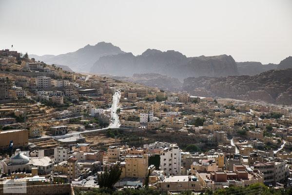 Blick auf die Stadt Petra.