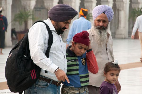 Im Sikh-Tempel, Delhi