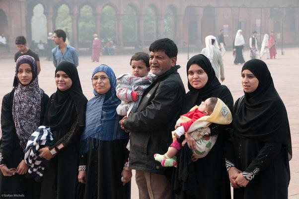 In der Jam Masjid, Erbauer Shah Jahan, Großmogul
