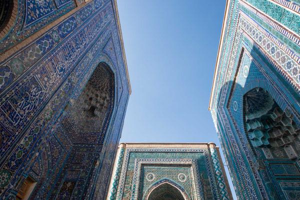 Das Shahi-Sinda Ensemble ist eine der weltweit bekanntesten Grabstätten Zentralasiens.