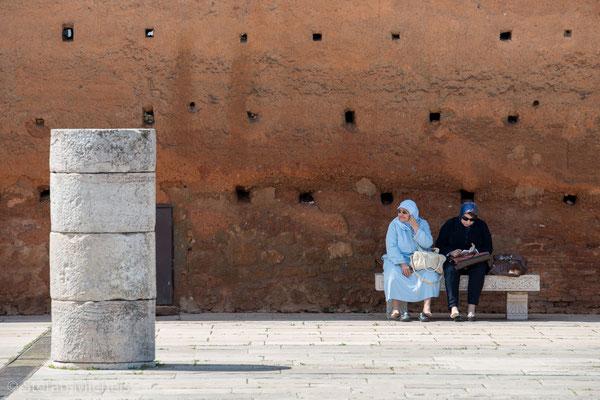 Rabat - Reste der Großen Moschee von Samara - Mauern aus Stampflehm.
