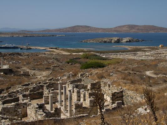 Delos war in der Antike eine blühende und durch das dortige Apollonheiligtum für die Griechen heilige Stätte.
